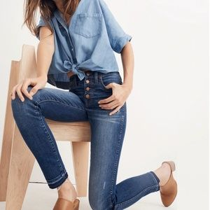 "Madewell 10"" High-Rise Skinny Jeans: Drop-Hem Edit"